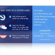 AuraGlow-Teeth-Whitening-LED-Light-Kit-35-Carbamide-Peroxide-2-5ml-Gel-Syringes-Mouth-Tray-and-Case-0-7