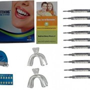 Cool-Teeth-Whitening-Kit-10-Syringes-of-44-Carbamide-Peroxide-Gel-1-LED-Accelerator-Light-2-Trays-1-Shade-Guide-1-Instructions-Sheet-at-Home-Tooth-Whitener-Products-0